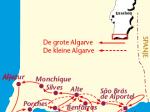 Traject van de grote Algarve trektocht.