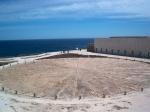 In het Fortaleza de Promentoris zien we een 15de eeuwse windroos. Hendrik de Zeevaarder gebruikte die voor zijn navigatie school.