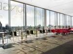 De skylounge van het DoubleTree by Hilton Hotel