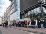 Aanschuiven aan het Anne Frank Museum