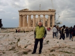 Achterkant Parthenon op Akropolis