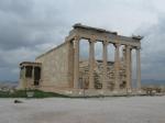Erechtheion met de kariatiden (replicas) op Akropolis