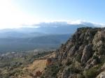 Fraai uitzicht op de terugweg van Delphi