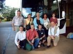 Ons kleine groepje met staand vlnr Frank, Clara, An, Else, Agnes en knielend Bernard, Jos, Filip en Marc.