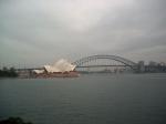 De bekendste landmarks van Sydney : Opera House en Harbour Bridge.