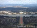 Panorama op Canberra (hoofdstad van Australië) vanop Mount Ainslie.
