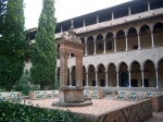 Binnentuin van het gotische klooster van Pedralbes van de Arme Klaren, nu een museum.