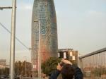 De naam Torre Agbar is afgeleid van Aguas de Barcelona, het Spaanse waterleidingbedrijf dat in de toren gevestigd is. Koning Juan Carlos heeft het geopend op 16 september 2005.