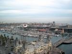 Even omdraaien en we zien Port Vell, de marina en de bioscoop IMAX.