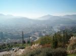 Vanop Monte Artxanda hebben we een prachtig panorama over de stad.