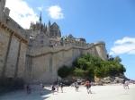 Wandeling rond Mont Saint-Michel bij laag tij