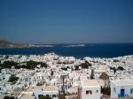 Panorama op Mykonos-stad.
