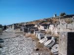 Archeologische site van oud Thira op Santorini.