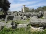 Ruines van de Zeus tempel in Olympia. Binnenin bevond zich het 12 m hoge goud-en-ivoren beeld van de tronende Zeus, één van de Zeven wereldwonderen van de antieke wereld.