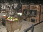 Eén van de overgebleven verbrandingsovens in Auschwitz