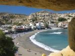 Matala is een vrij grote, drukke en toeristische stad met veel goede faciliteiten voor toeristen.