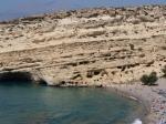 Matala staat bekend om zijn door mensen gemaakte grotten die voor het eerst werden bewoond tijdens de prehistorie. In de zestiger en zeventiger jaren trokken de grotten ontelbare internationale hippies aan.