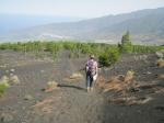 Een prachtig vulkaanlandschap van de in 1949 uitgebarsten San Juan vulkaan