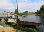 Traditionele platbodemboot op de Cher te Savonnières.