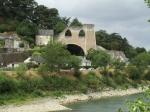 Deze eigenaardige constructie in Montjean-sur-Loire is de ruïne van een steenkooltoren van een steenkoolmijn uit 1864 die door Belgen werd gebouwd en uitgebaat.