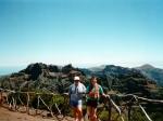 Effevee en BeeGee klaar voor de wandeling naar Pico Ruivo (1861 m).