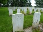 De War Cemetery vlakbij Hotton.