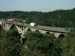 De brug te Svinesund op de grens tussen Noorwegen en Zweden.