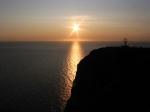 De middernachtzon op Noordkaap.