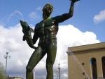 De fontein van Poseidon in Goteborg.