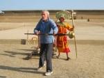 Chan Chan : demonstratie door Etienne van de Chambi, de gevechtsstok van de Inca