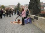 Entertainment op de Karelsbrug