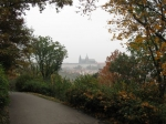 Praagse burcht vanaf de Petrin heuvel