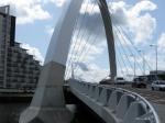 Clyde Arch bridge bijgenaamd Skuinty Bridge wegens zijn rare vorm (Glasgow)