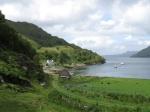 Tarbet : eindpunt van de wandeling rond Loch Morar