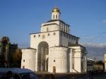 De Gouden Poort (1158-1164) was oorspronkelijk een toren op de toegangspoort naar de stad Vladimir. Staat eveneens op de Werelderfgoedlijst van de Unesco.