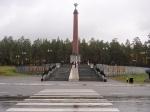 Het monument dat de grens aangeeft tussen Europa en Azië op 12 kilometer van Jekaterinenburg. De werkelijke grens is echter nooit met zekerheid vastgesteld.