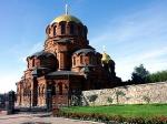 De Alexander Nievsky kathedraal in Novosibirsk is gebouwd in Neo Byzantijnse stijl in 1896-1899. Ze is geïnspireerd op de kathedraal van St Petersburg.