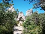 Chaos de Montpellier-le-Vieux is een rotsformatie in de Causse Noir. Op de foto zie je La porte de Mycène, een natuurlijke boog van 12 m.