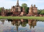 De Wat Mahathat in het Historisch Park van Sukhothai, dat op de Werelderfgoedlijst van UNESCO staat.