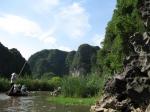 Sampam boottocht op de Ngo Dong rivier doorheen de ~droge Halong baai~ (Hoa Lu)