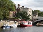 De rivier Ouse nabij de Lendal Bridge. Een boottocht op de rivier is een aanrader. Zo kan je York eens vanuit een ander perspectief bekijken.