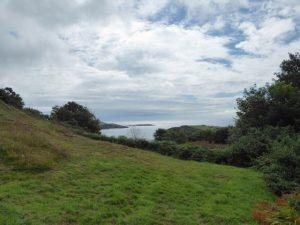 Zicht op de baai van Castlehaven.