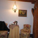 Onze mooie kamer in hotel Gutenbergs. De aflopende vloer naar de uitgang nemen we er maar bij :-)