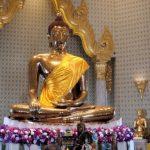 De massief gouden 5 ton zware Boeddha van de Wat Traimit tempel.