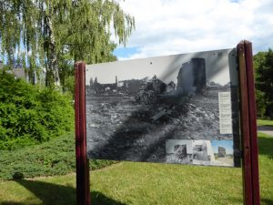 Sankt Vith werd practisch helemaal verwoest tijdens WOII. De Büchel toren stond nog deels overeind en werd in 1961 gerestaureerd.