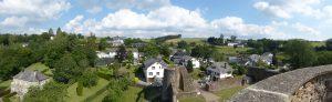 Panorama vanop de toren van de burcht van Reuland.