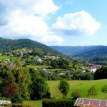 Panorama van Saint-Maurice-sur-Moselle na een venijnig klimmeke.