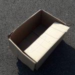 Ollie zijn doos is leeg :-(