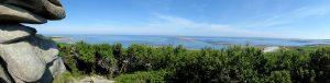 Panorama vanop Île Grande