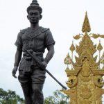 Het standbeeld van koning Mangrai, de eerste koning van Lana (Noord Thailand).